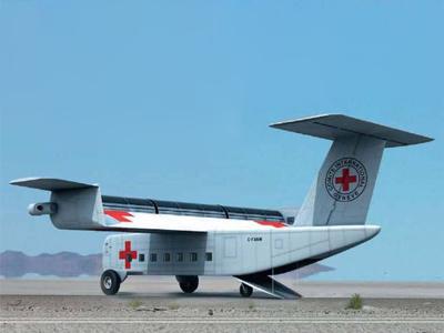 Летательный аппарат. самолет с роторным крылом. летательный аппарат беспилотник fanwing. новая технология в авиастроении